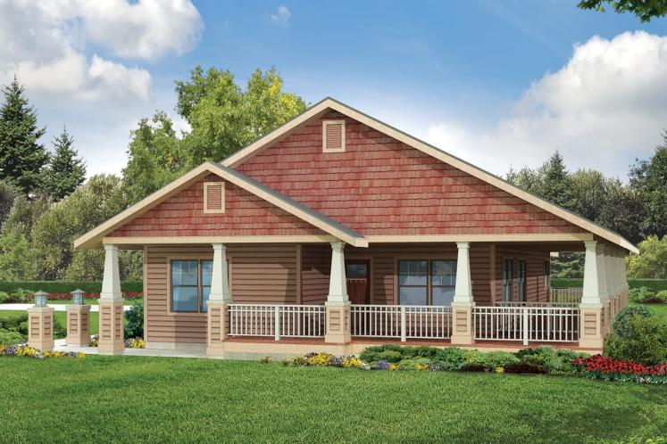 Cottage House Plan - Cadence 63066 - Front Exterior