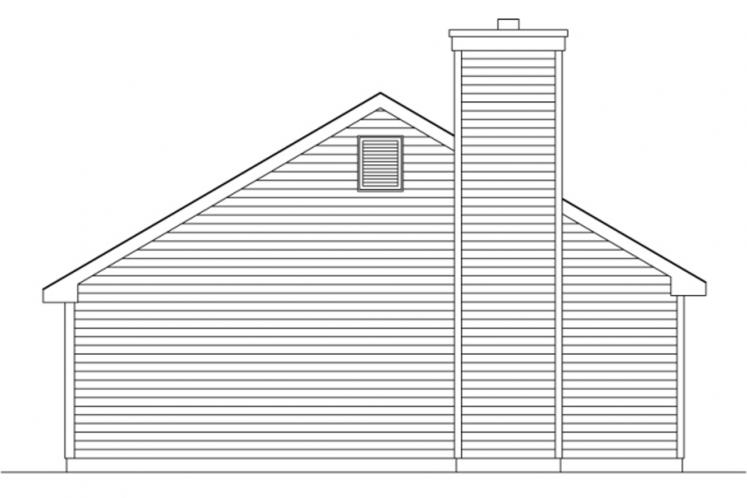 Traditional House Plan -  63107 - Left Exterior