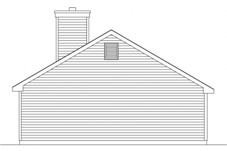 Ranch House Plan -  63107 - Right Exterior