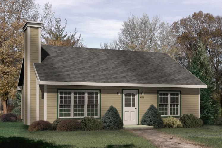Ranch House Plan -  63107 - Front Exterior