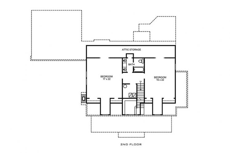 Country House Plan - Seguin 63137 - 2nd Floor Plan