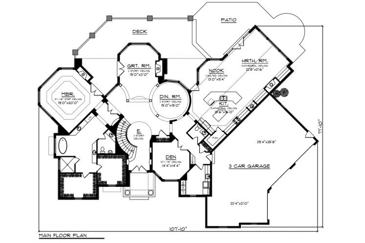 Classic House Plan -  63224 - 1st Floor Plan