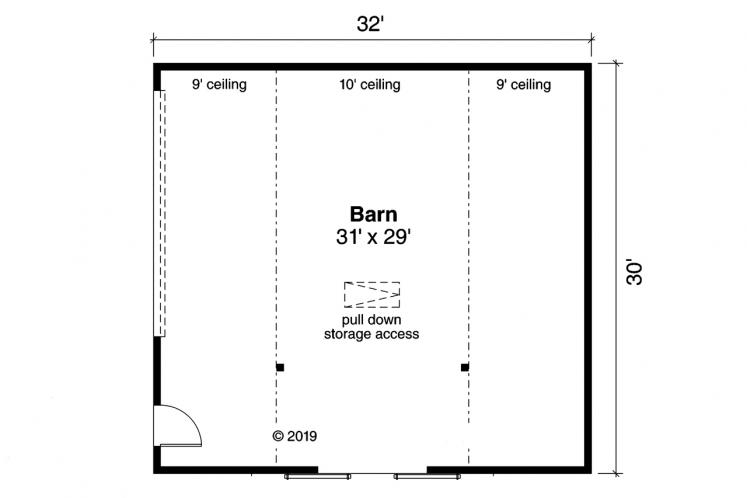 Country  - Barn 63397 - 1st Floor Plan