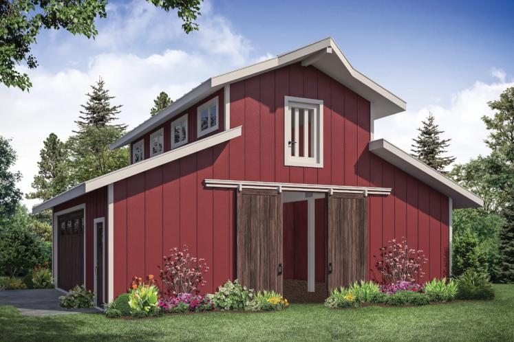 Traditional  - Barn 63397 - Front Exterior