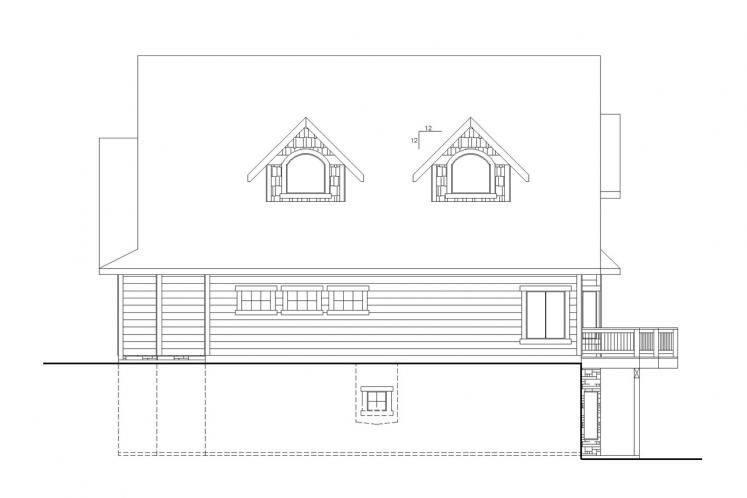 Country House Plan -  63426 - Right Exterior