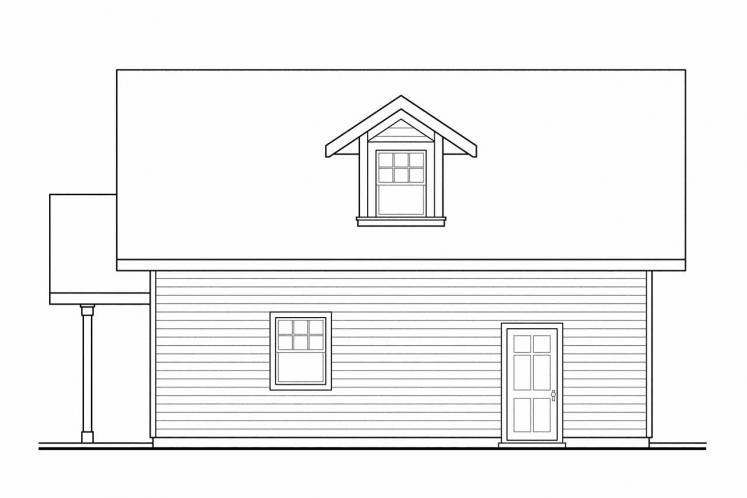 Country Garage Plan -  63498 - Right Exterior