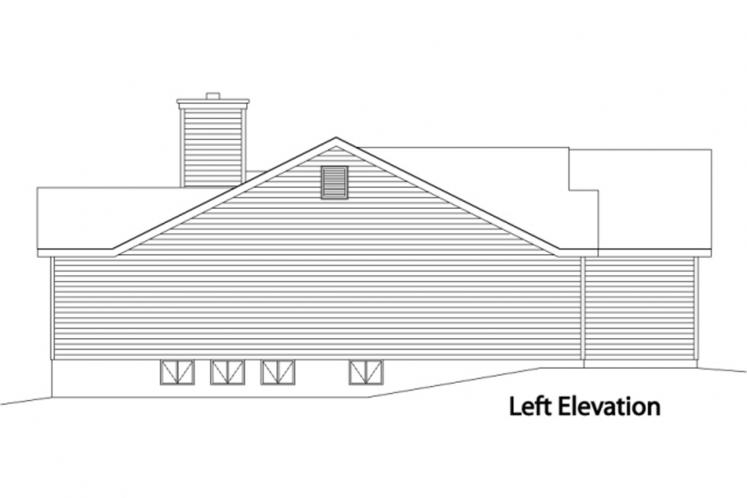 Traditional House Plan -  63508 - Left Exterior