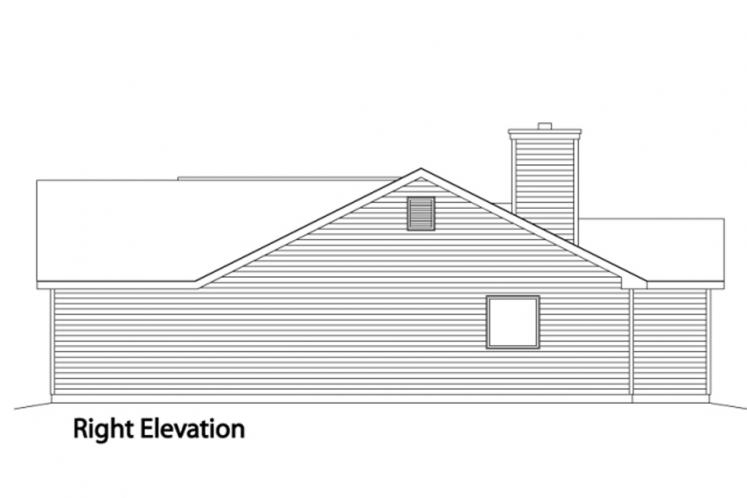 Ranch House Plan -  63508 - Right Exterior