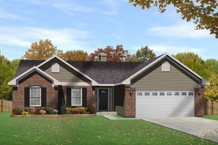 Traditional House Plan -  63508 - Front Exterior