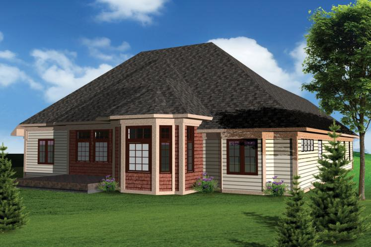Classic House Plan -  63613 - Rear Exterior
