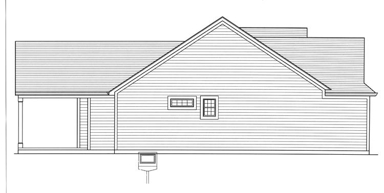 Ranch House Plan - Eagle's View 63629 - Left Exterior