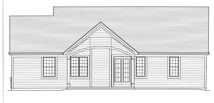 Country House Plan - Eagle's View 63629 - Rear Exterior