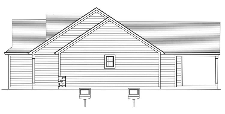 Cottage House Plan - Eagle's View 63629 - Right Exterior