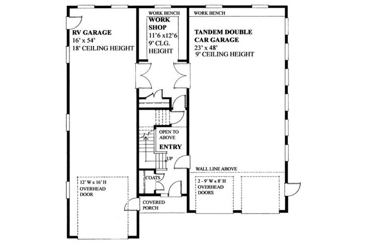 Craftsman Garage Plan -  63688 - 1st Floor Plan