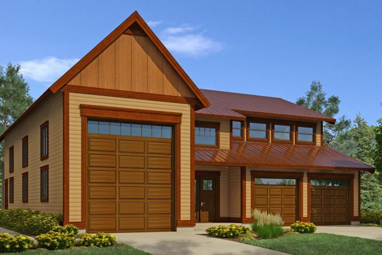 Traditional Garage Plan -  63688 - Front Exterior