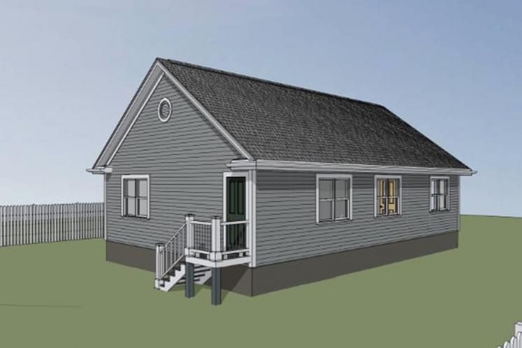 Bungalow House Plan -  63714 - Left Exterior