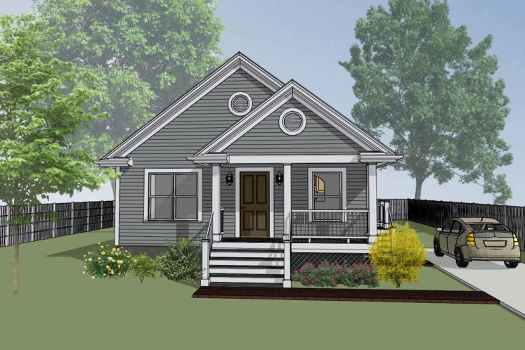 Cottage House Plan -  63714 - Front Exterior