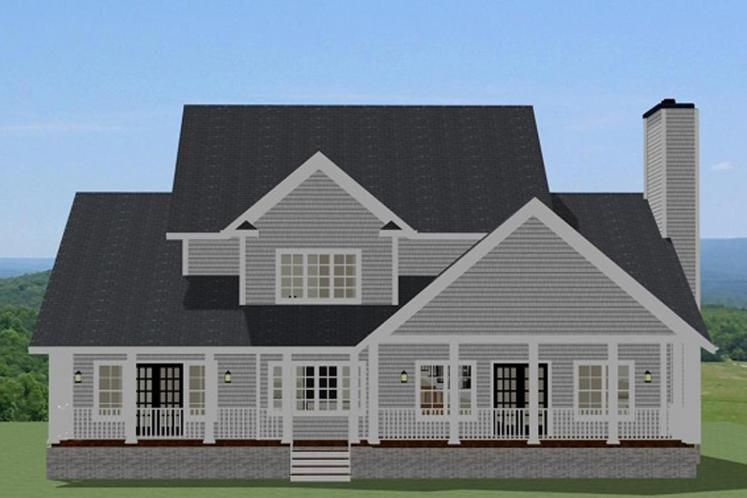 Country House Plan - Chesterbrook 63722 - Rear Exterior