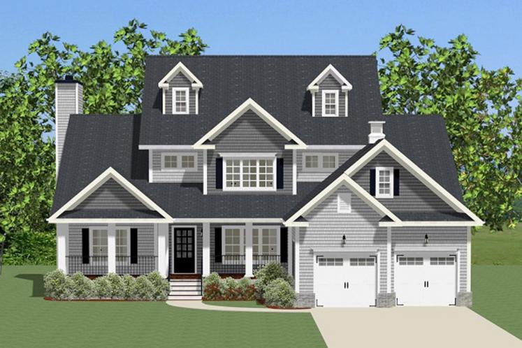 Farmhouse House Plan - Chesterbrook 63722 - Front Exterior