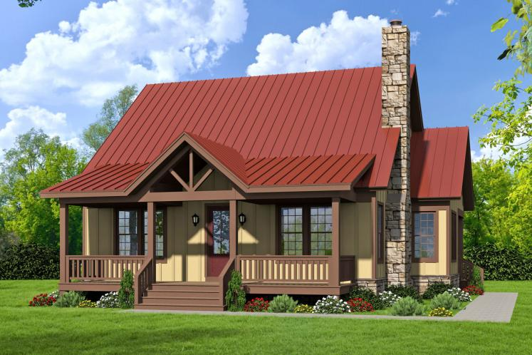 Craftsman House Plan -  63729 - Front Exterior