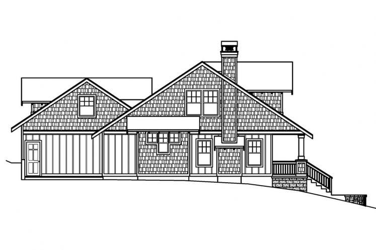 Country House Plan - Carrington 63769 - Left Exterior