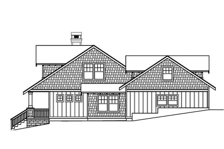 Craftsman House Plan - Carrington 63769 - Right Exterior