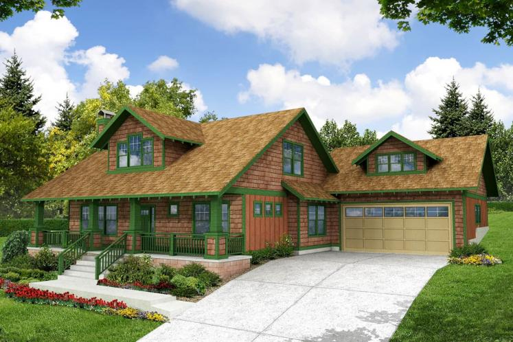Craftsman House Plan - Carrington 63769 - Front Exterior