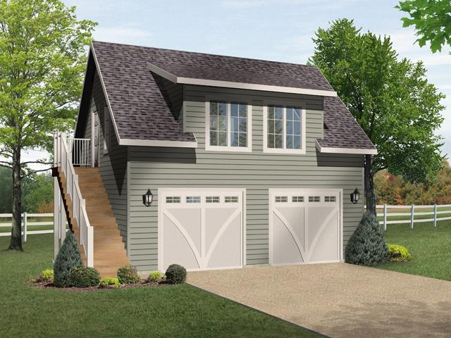 Traditional Garage Plan -  63840 - Front Exterior