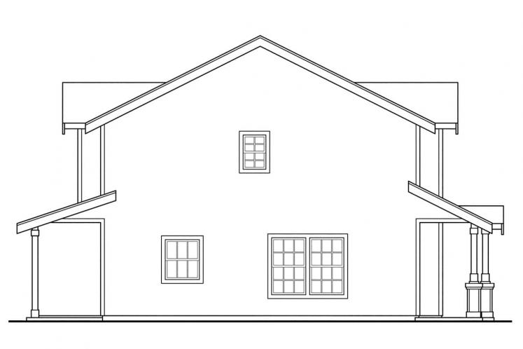 Country Multi-family Plan - Rothbury 63959 - Left Exterior