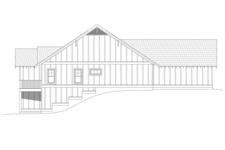 Traditional House Plan - Victor Pass 63966 - Left Exterior