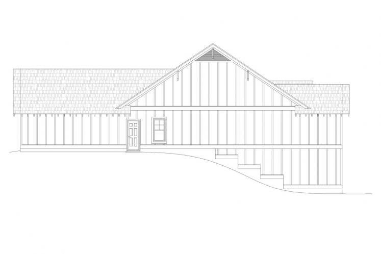 Ranch House Plan - Victor Pass 63966 - Right Exterior