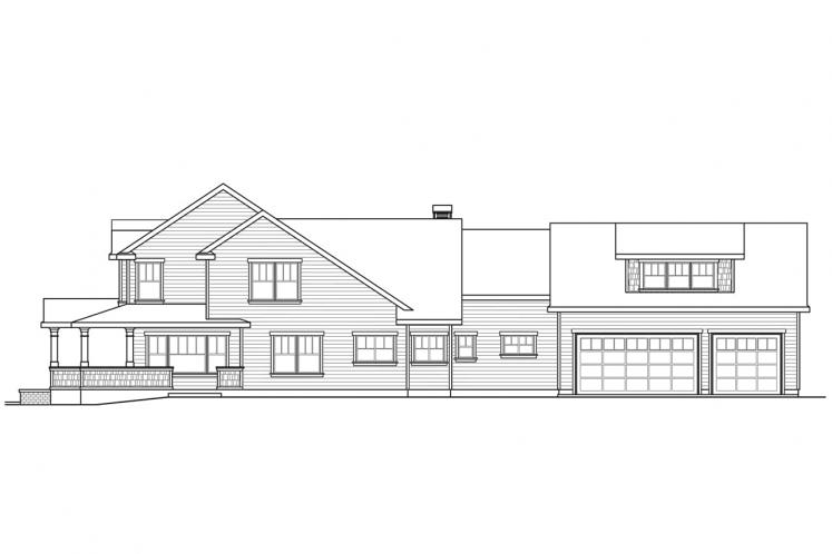 Country House Plan - Coburg 64002 - Right Exterior