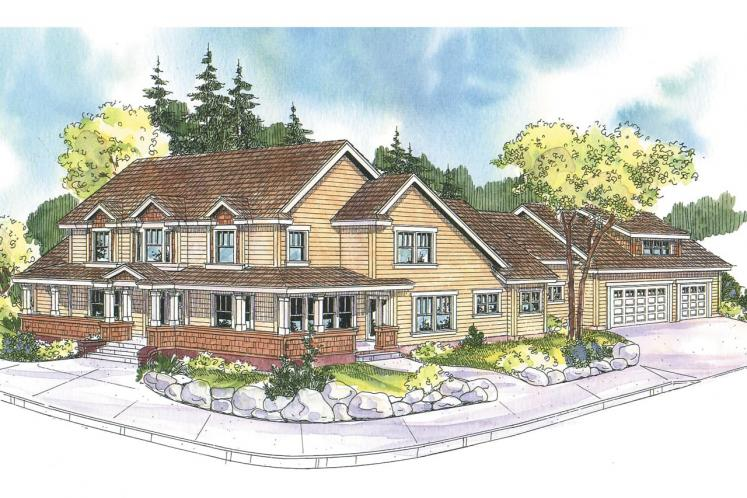 Country House Plan - Coburg 64002 - Front Exterior