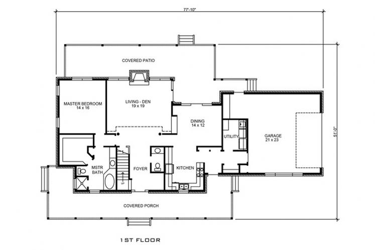 Country House Plan - Fair Oaks 64020 - 1st Floor Plan