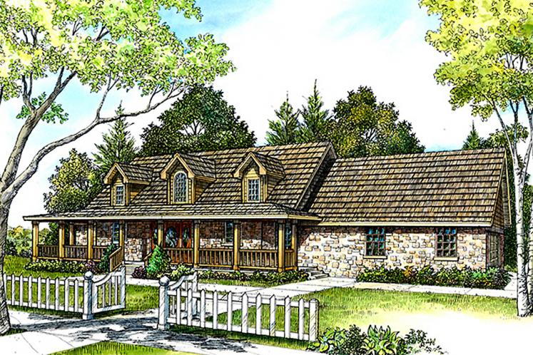 European House Plan - Fair Oaks 64020 - Front Exterior