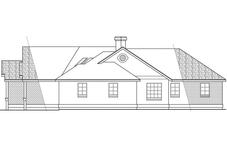 Traditional House Plan - Camrose 64121 - Right Exterior