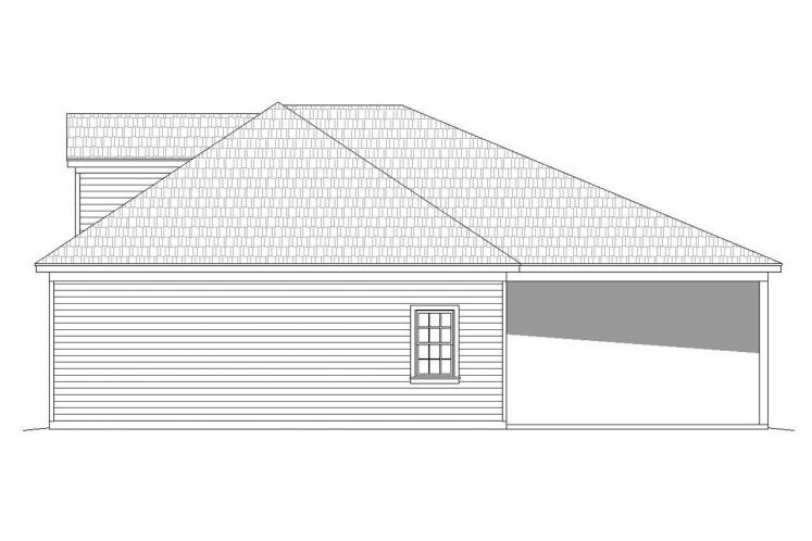 Country Garage Plan -  64172 - Right Exterior