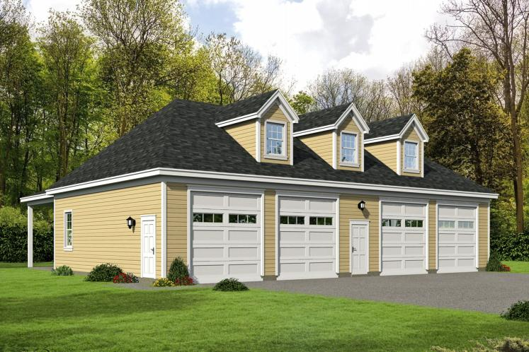 Traditional Garage Plan -  64172 - Front Exterior