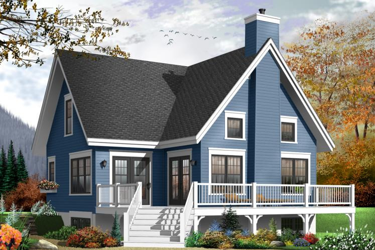 Cottage House Plan - Lilly 64175 - Rear Exterior