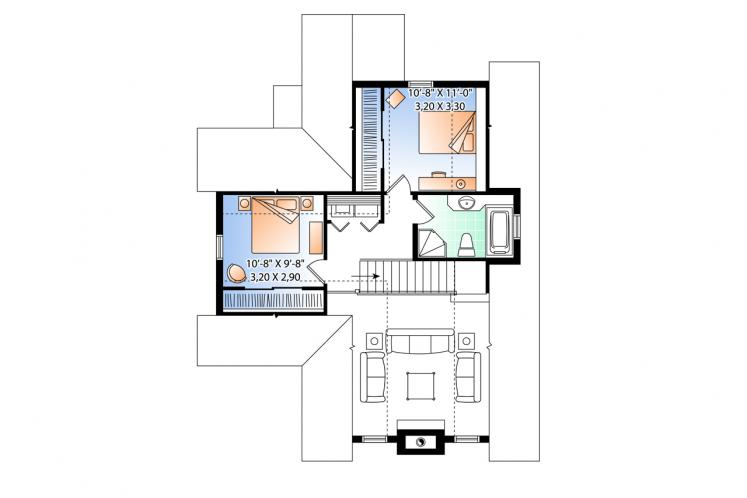 Country House Plan - Lilly 64175 - 2nd Floor Plan