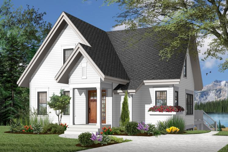 Cottage House Plan - Lilly 64175 - Front Exterior