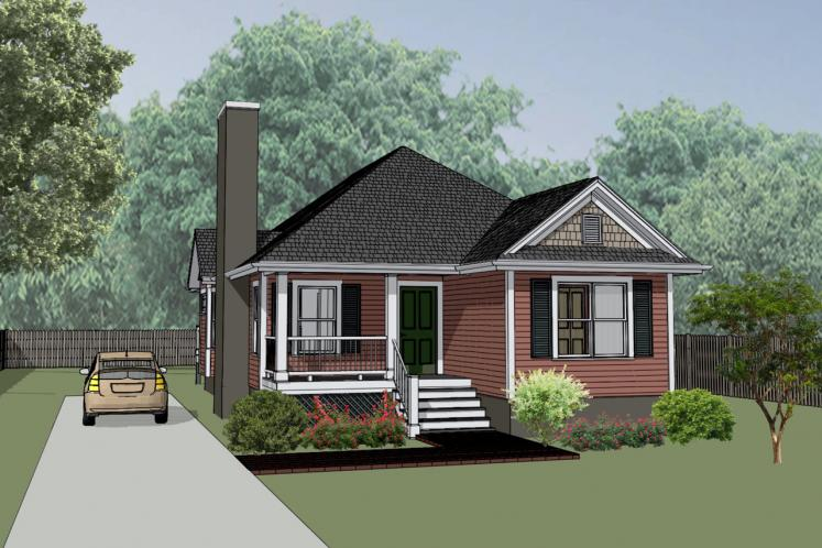 Cottage House Plan -  64187 - Front Exterior