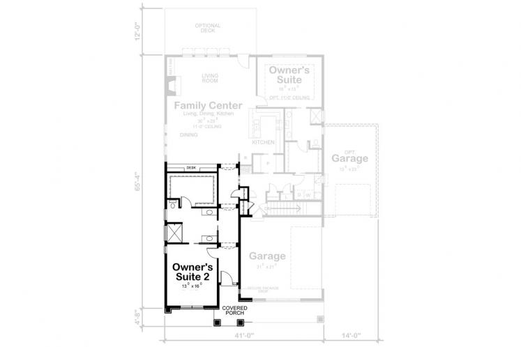 Country House Plan - Wilmert Grove 64194 - Optional Floor Plan