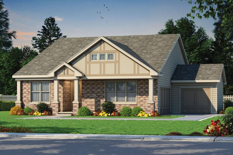 Traditional House Plan - Wilmert Grove 64194 - Front Exterior
