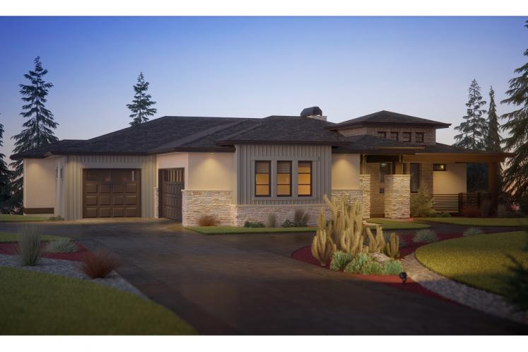 Modern House Plan - Cactus Trail 64204 - Front Exterior
