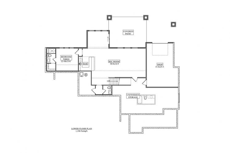 Modern House Plan - Cactus Trail 64204 - Basement Floor Plan