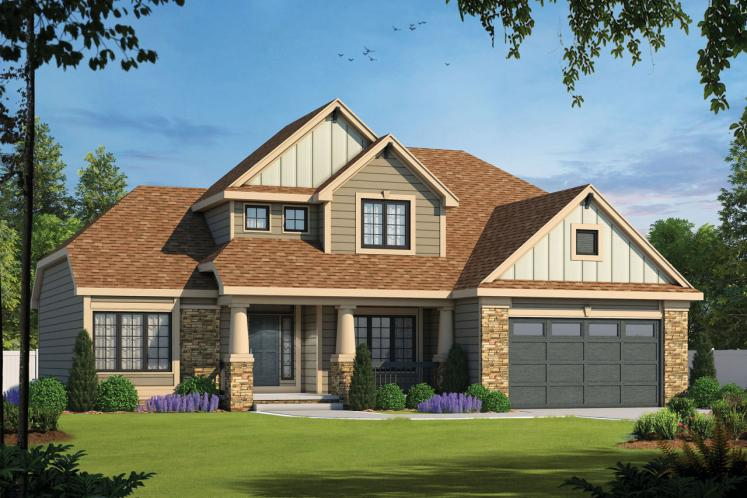 Country House Plan - Flockhart 64237 - Front Exterior