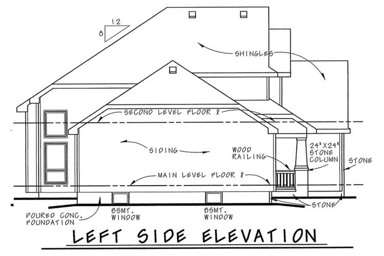 Country House Plan - Flockhart 64237 - Left Exterior