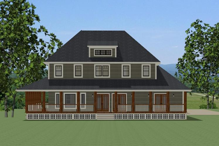 Country House Plan - Efland 64315 - Rear Exterior