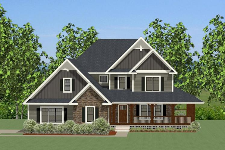 Craftsman House Plan - Efland 64315 - Front Exterior